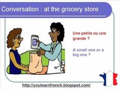 http://youlearnfrench.blogspot.com/  Learn French : basic formal dialogue conversation. How to buy food and other producta at the grocery store market grocer's using basic expressions phrases sentences. Pronunciation with english subtitles beginners intermediate advanced everyday life buying shopping   Aprende frances : dialogo conversacion como...