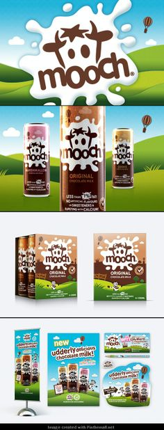 Fun new #packaging for Mooch Milk : ) curated by Packaging Diva PD created via http://www.designhappy.co.uk/new-packaging-for-mooch-chocolate-milk/
