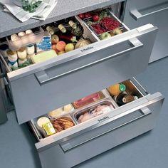 Le réfrigérateur sous plan