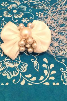 White Pearl Rhinestone Tulle and Ribbon Birdcage by BelleTulle, $45.00