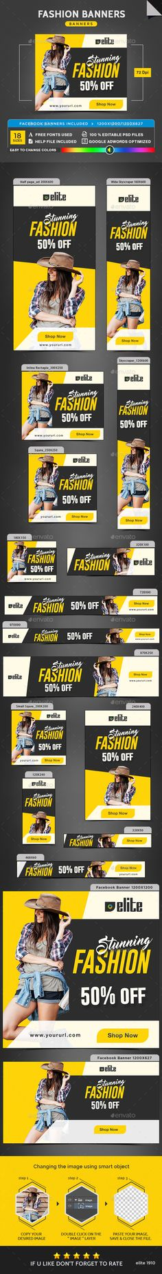 Fashion Banners Template PSD                                                                                                                                                                                 More