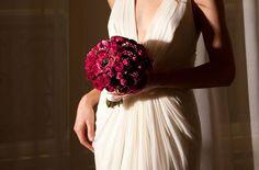 Exquisite dark red bridal bouquet by mcqueens uk #red #bouquet #weddings