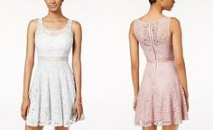 24a09333d American Rag Lace Illusion Skater Dress, Only at Macy's Junior Dresses, Junior  Outfits,