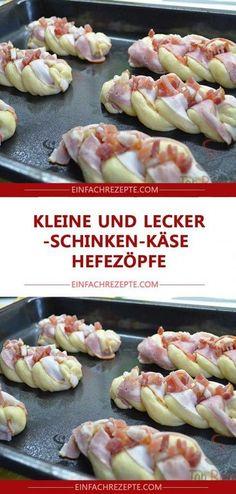 Kleine und lecker Schinken-Käse-Hefezöpfe 😍 😍 😍 Small and delicious ham and cheese yeast braids 😍 😍 😍 snacks Easy Smoothie Recipes, Easy Smoothies, Snack Recipes, Easy Recipes, Healthy Recipes, Snacks Pizza, Party Snacks, Baked Garlic, Coconut Recipes