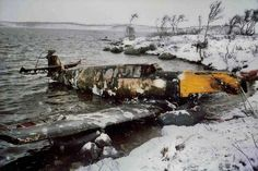 The recovery of a long-crashed Bf-109 from a lake