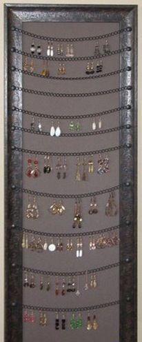 earring holder frame diy #diyjewelry #JewelryDisplays #earringsdiy