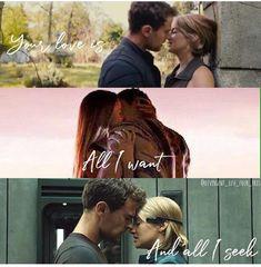 Divergent Fanfiction, Divergent Memes, Divergent Hunger Games, Divergent Fandom, Divergent Trilogy, Divergent Insurgent Allegiant, Divergent Theo James, Tris And Tobias, Movies