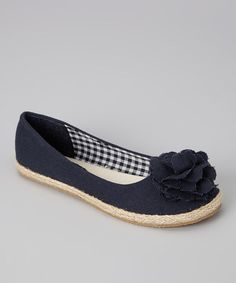 Take a look at this Navy Lulu Flat - Kids by Launch on #zulily today!