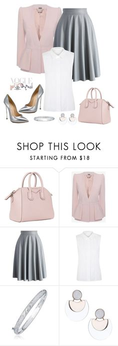"""""""Untitled #907"""" by gallant81 ❤ liked on Polyvore featuring Givenchy, Alexander McQueen, Chicwish, dVb Victoria Beckham, Topshop, Casadei and Bottega Veneta"""