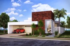 areas gourmet com piscina - Pesquisa Google House Front Design, Roof Design, Modern House Design, Facade Architecture, Residential Architecture, Contemporary Architecture, Indian Home Design, Style At Home, Modern Exterior