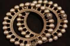 Gujar Ball Hinge Bracelet - Rajasthan by Nakarali. Tribal belly dance jewelry.