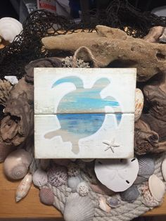 Pallet Wall Art - Pallet Art - Pallet Sign - Ocean Art - Ocean Sign - Sea Turtle Art - Beach Art - Starfish Decor - Beach Sign