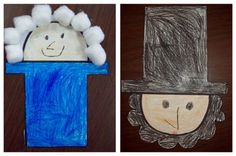 Presidents Day Craft ~ We also make George and Abe using the same shape. Right side up is Abe and upside down is George.-  Pinned by @PediaStaff – Please Visit http://ht.ly/63sNt for all our pediatric therapy pins