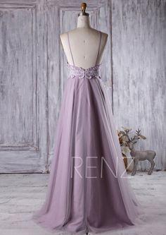 2016 Light Purple Bridesmaid Dress Long Spaghetti by RenzRags