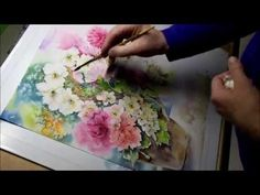 ▶ Sommerblumen / Aquarell / Demonstration Teil 9 - YouTube