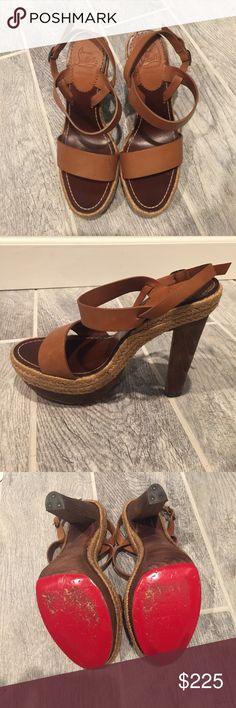 Christian Louboutin Espadrilles These espadrilles are super cute shoes-fantastic for summer! Size 40-like new! Only worn one time! I usually wear a size 9 and these fit! Christian Louboutin Shoes Espadrilles