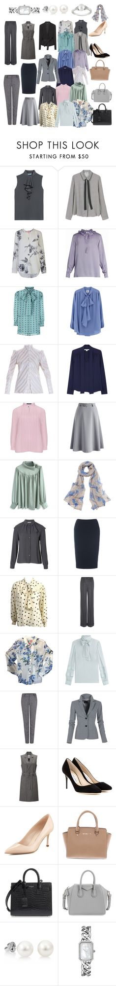 """""""Office romantic capsule"""" by anna-chasnyk ❤ liked on Polyvore featuring Prada, MANGO, Joules, Sonia Rykiel, Gucci, Hillier Bartley, Diane Von Furstenberg, Manon Baptiste, Chicwish and Bajra"""