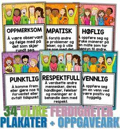 Opplegg for å arbeide med sosial kompetanse og ferdigheter på Malimo.no Character Education, Kids Education, Danish Language, Too Cool For School, Play To Learn, Best Teacher, Classroom Activities, Social Skills, Kids And Parenting