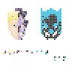 On instagram by james.beckmp #braille #doitbraille (o) http://ift.tt/1LloH51 Braille pointillism of Two Face and Batman. #art #graphicdesign #design #inspiration #dots #squint #poster #comics  #digital #pointillism #batman #twoface #hero #villian #manypixls