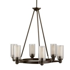 This the one! 6 light Chandelier in Olde Bronze - Circolo Collection