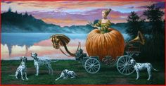 "......Cinderella`s Providence Oil on Canvas 	21"" h  x  40"" w"