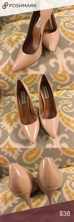 Nude Steve Madden Pumps Sz 8 Chic classic nude Steve Madden Pumps. Great for date night or the office. Worn once so they are in great shape! Steve Madden Shoes Heels