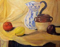 "Yue Lin ""Jessica"" Chen  ""Still Life"" Oil on Canvas"