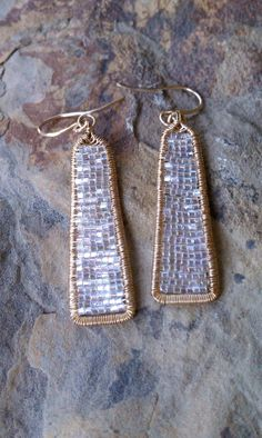 Analise Earrings// Sparkling Miuki Seed Bead by MistyEvansDesign, $130.00
