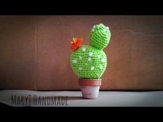 Tutorial uncinetto: cactus amigurumi - YouTube