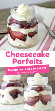 Valentine's Day Mini Cheesecake Parfaits