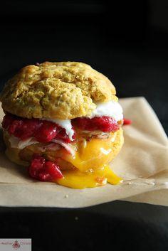 Sweet Potato Biscuit Breakfast Sandwich | Heather Christo