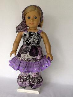 American Girl doll or 18 inch doll sundress ruffled by ASewSewShop