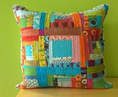 Tuesday pillow redux by stitchindye, via Flickr