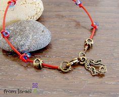 Kabbalah Bracelet Red String evil eye by OlgaeFIMOva on Etsy, $15.00