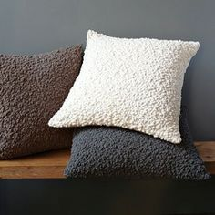 New Cozy Pillow Cover - So irresistibly huggable it's sure to become a regular companion during movie nights on the couch. The pebbly textur...