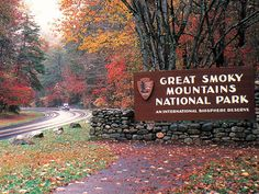 Soft rolling mountains most beautiful in the fall when the leaves have changed color.