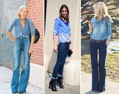 looks total jeans - Pesquisa Google
