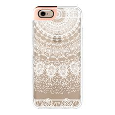 iPhone 6 Plus/6/5/5s/5c Metaluxe Case - BOHO WHITE LACE by Monika... ($50) ❤ liked on Polyvore featuring accessories, tech accessories, phone cases, phone, iphones, tech, iphone case, iphone cases, iphone cover case and apple iphone cases