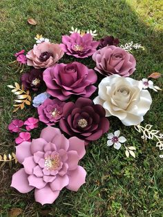 Paper Flowers set of 26 items