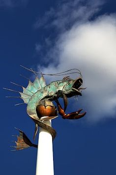 """""""The Barbican Prawn"""" The Sea Creature Sculpture affectionately known as the Barbican Prawn, Plymouth."""