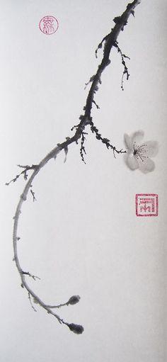Fleur et boutons de prunus