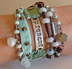 gorgeous piece from nina bagley  $395 on etsy Leather Jewelry, Wire Jewelry, Jewelry Art, Jewelry Crafts, Jewelry Design, Jewelery, Beaded Jewelry, Jewelry Accessories, Unique Jewelry