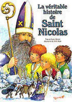 La véritable histoire de Saint Nicolas, J. Gontier & A. Hofer (éd. NATHAN) Theme Noel, Gnome, Baseball Cards, Logo, Children, Livres, Logos, Environmental Print