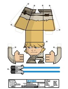"Welcome to BIT+ Paper Toys. Releasing the 8th Series of BIT+ Paper Toys, ""NEW HOPE"" Featuring characters from Star Wars IV A New Hope...."