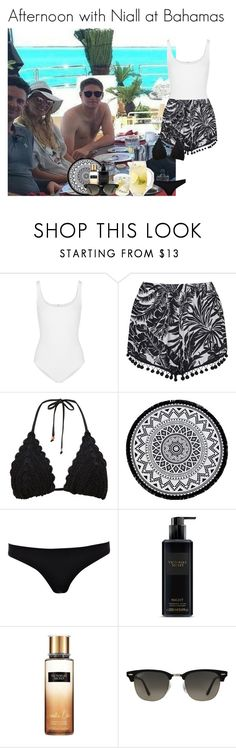 """""""Afternoon with Niall at Bahamas"""" by mllestylesusa ❤ liked on Polyvore featuring Wolford, Topshop, Monsoon, Linum Home Textiles, River Island, Victoria's Secret and Ray-Ban"""
