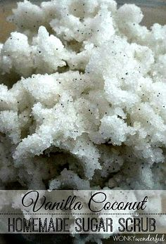 Easy Homemade Vanilla Coconut Body Scrub Recipe