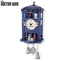 Officially Licensed Doctor Who Sculpted Wall Clock: Doctor Who TARDIS Sculpted Clock