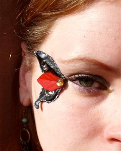 Black Butterfly Wing Fairy Eye decorations by magpiesmasquerie, $12.00