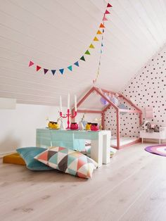 What a cute idea for a fun organized kids place!!