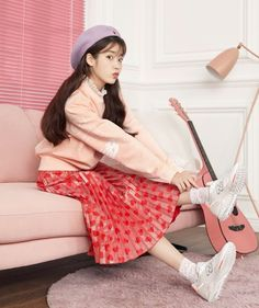 Top 10 Most Successful and Beautiful Korean Drama Actresses - Korean Drama Actors Iu Fashion, Asian Fashion, Korean Girl, Asian Girl, Vaporwave Anime, Sports Brands, Korean Celebrities, Korean Outfits, Outfits